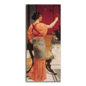 John William Godward - Lesbijka z wróblem