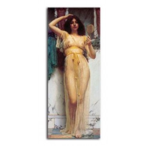 John William Godward - Kobieta z lustrem