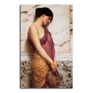 John William Godward - Tamburynistka