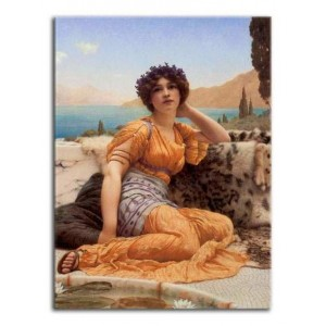 John William Godward - W wianku z fiołków